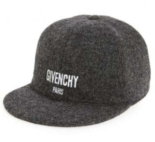 Givenchy Men's Grey Logo Baseball Cap