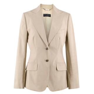 Dolce & Gabbana Beige Fitted Blazer