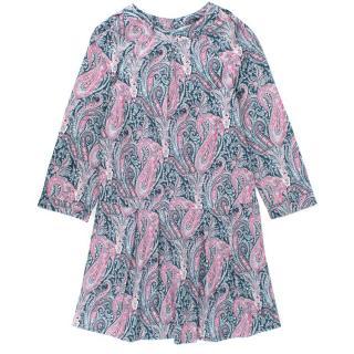 Bonpoint Paisley Cotton Drop Waist Dress
