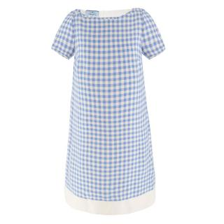 Prada Blue Gingham dress