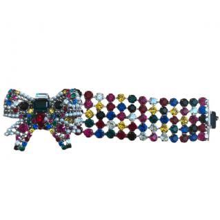 Miu Miu Jewelled bow bracelet