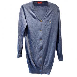 Vivienne Westwood Red Label Blue Fine Knit Cardigan