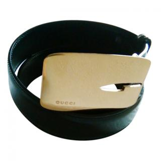 Gucci Black Nubuck Leather Belt