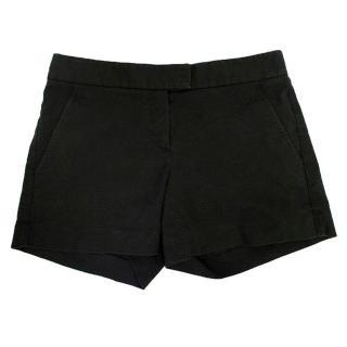 Theory washed black mini shorts