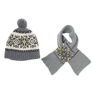 Marie Chantal Girl's Grey Wool Scarf and Hat