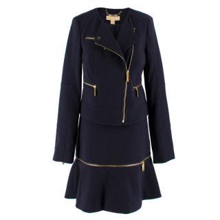Michael Michael Kors Navy Skirt and Blazer Set