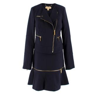 Michael Michael Kors Navy Skirt and Blazer Set