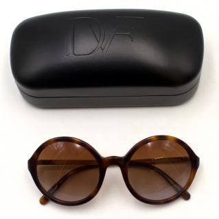 Diane Von Furstenberg Round Tortoiseshell Sunglasses