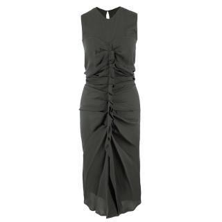 Isabel Marant Green Silk Ruched Dress