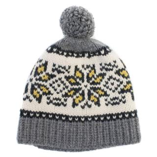 Marie Chantals Cashmere & Wool-blend Fair Isle Bobble Hat
