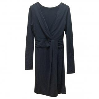 Halston Heritage dark grey draped dress