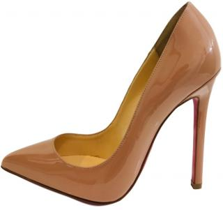 Christian Louboutin Nude Patent Leather Heels