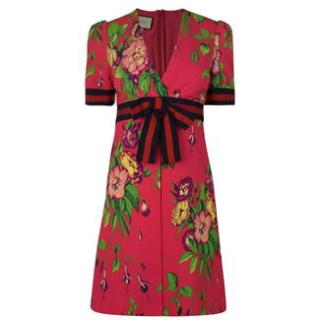 Gucci Web Floral Printed Dress