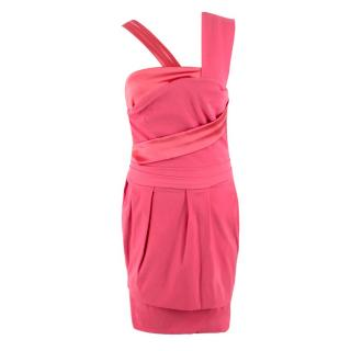 Preen by Thomas Bregazzi Pink Panelled Dress