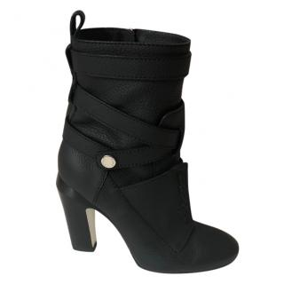 Fendi leather strappy ankle boots
