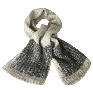 Sandro grey wool scarf