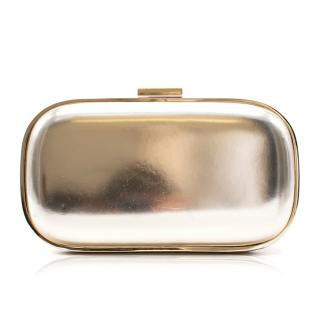 Anya Hindmarch Metallic Gold Clutch