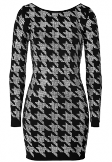 Balmain Crystal Houndstooth Dress