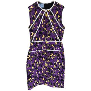Prada printed runway mini dress