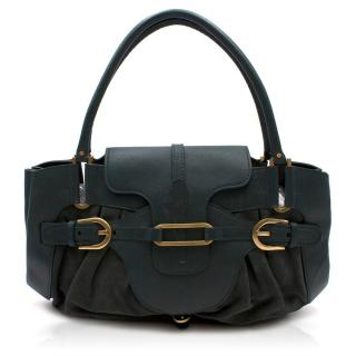 Jimmy Choo Leather & Suede Forest Green Shoulder Bag