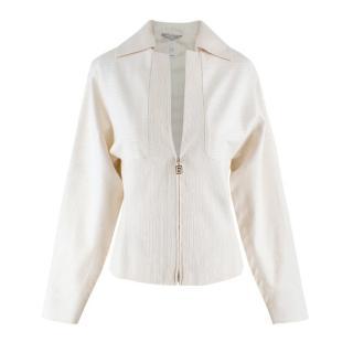 Gianni Versace Off-white Metallic Jacket