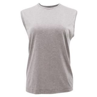 Malene Birger Grey Marl Loose Sleeveless Top