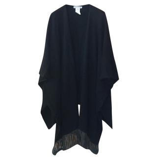 Fabiana Filippi cashmere-leather cape