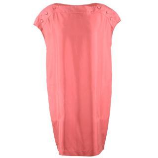 Stella McCartney Pink Silk Shift Dress