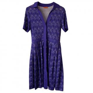Missoni Navy Knit Dress