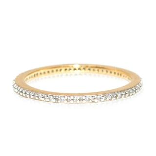 Bespoke Pave Zirconia Gold Plated Ring