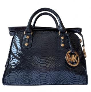 Michael Kors Leather snake effect tote bag