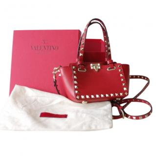 Valentino Red Rockstud Leather Bag