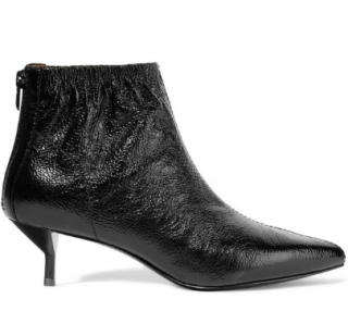 3.1 Phillip Lim Blitz textured glossed-leather ankle boots