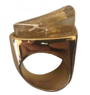Chloe Brass and Swarovski epoxy resin ring