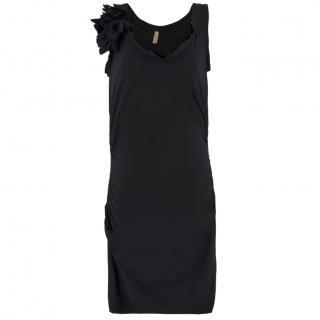 Lanvin Black Ruched Dress