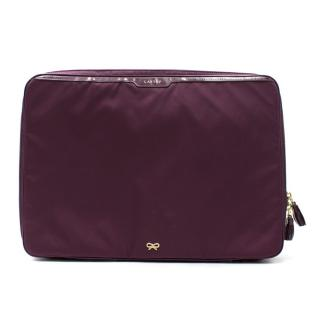 Anya Hindmarch Purple Laptop Bag