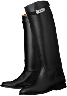 Hermes Black Riding Boots