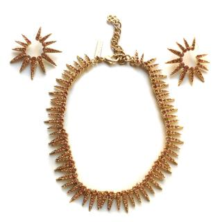 Oscar De la Renta crystal necklace and earrings