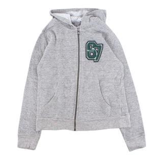 Bonpoint Boy's Grey Hooded Zipped Sweatshirt