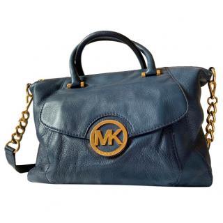 MK Michael Kors Navy leather tote