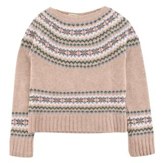 Bonpoint Girl's Beige Knit Jumper