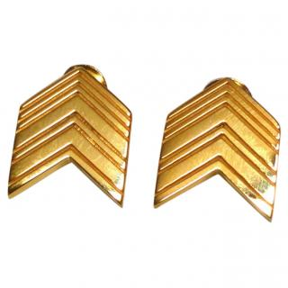Lucy Quartermaine Art Deco Arrow Earrings