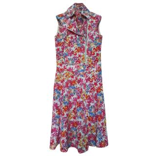 Karl Lagerfeld Printed Floral Sleeveless Dress