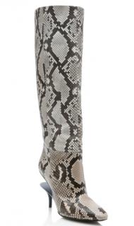Maison Margiela Python Ghost Wedge Knee Boots