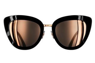 Chanel Rose Gold & Black Cat-Eye Sunglasses