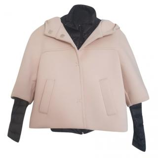 Marella padded removable cape jacket
