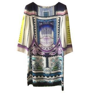 Mary Katrantzou silk venezuela dress