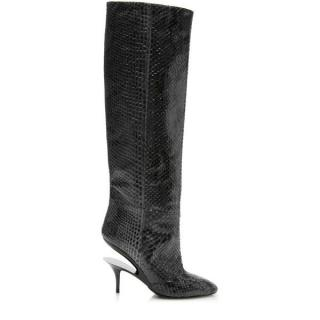 Maison Margiela Python Ghost Wedge Knee Boots
