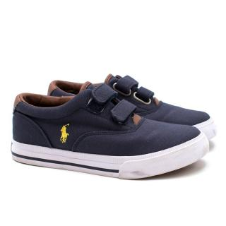 Polo Ralph Lauren Boy's Navy Canvas Velcro Sneakers