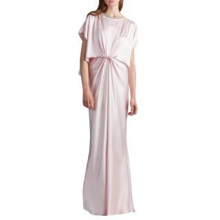 Monique Lhullier Resort 2018 Blush Satin Gown
